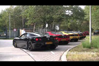 5x Ferrari Challenge Stradale Revving at the same time